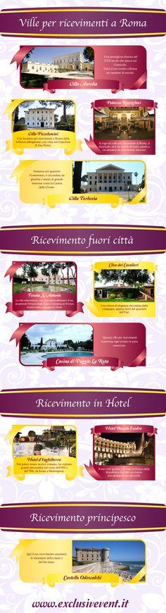 Le più belle ville da matrimonio di Roma.  #wedding #Roma #matrimonio
