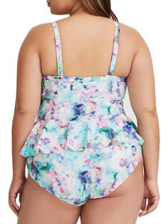 5b4ca8e809ecb Fatkini plus size swimwear tankini two piece amazon swim dress shorts  Slimming coverups big belly underwire high weaisted full fingured Chellysun   swimwear ...