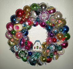 Christmas Kitsch Wreath  Vintage Christmas by MyHeirloomCharms, $235.00