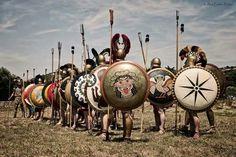 Hoplites get into formation.