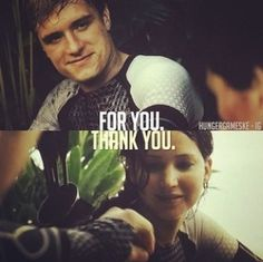 these small gestures will be what drives her insane each time she thinks about Peeta being in the hands of Pres. Snow