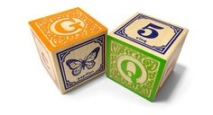 French ABC blocks from Uncle Goose are a great addition to any bilingual household. There are also many other language options.