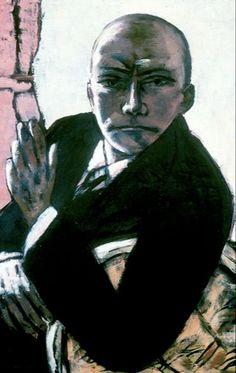 Max Beckmann, Self-Portrait in Black, Pinakothek der Moderne . Max Beckmann, Carl Friedrich, Antoine Bourdelle, Degenerate Art, Illustrator, Expressionist Artists, Figure Painting, New Objectivity, Rene Magritte