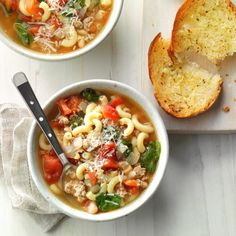 My husband enjoys my version of this dish so much, he doesn't order pasta fagioli soup at restaurants anymore. It's so easy to make, and yet it's as hearty enough to make a full dinner. Korma, Biryani, Pasta Fagioli Soup Recipe, Best Soup Recipes, Chowder Recipes, Pasta Recipes, Delicious Recipes, Yummy Food, Favorite Recipes
