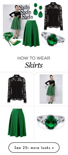 """#Green #Plaid #Skirt #Shein"" by gorgeousclothes on Polyvore featuring Chicwish, Jimmy Choo, Coast and BERRICLE"