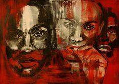 Wojciech Bąbski, Faces, 2013 #art #contemporary #artvee