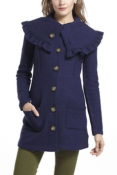 Herlev Sweater Coat in Navy is perfect for fall!