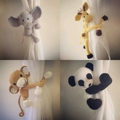 ideas baby diy crochet awesome for 2019 Baby Room Design, Baby Room Decor, Baby Mobile, Nursery Curtains, Crochet Curtains, Curtain Tie Backs, Crochet Patterns Amigurumi, Knitting Patterns, Crochet Animals