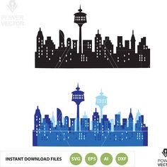 Calgary Downtown SVG, Calgary City Vector Skyline, Calgary Downtown silhouette, Svg, Dxf, Eps, Ai, Skyline Clipart, Svg Cut File  This is an Instant Download file. In this download youll get 1 ZIP file which contains: 1 SVG 1 EPS 1 DXF 1 AI 1 PDF (easy printing on letter size paper) 2 PNG (300 dpi)   EPS and SVG files are compatible with Adobe Illustrator, CorelDraw and Inkcape. Use this design for your own physical or digital projects. This png, svg, eps vector instant download file is…