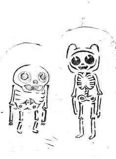 complete template i used of Adventure Time's Finn and Jake as skeletons for my pumpkin on Halloween i just used a pencil then went over it with a sharpie if you choose to use it just make sure i ge...