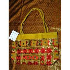 Womens Banjara Mirrors Sari Handbag Pale gold Designer Purse (Apparel)  http://www.amazon.com/dp/B005CGAY58/?tag=worldshouts-20  B005CGAY58
