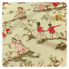 Nursery Rhyme Fabric It S Got Cats On Too Not Seen In This Image Though