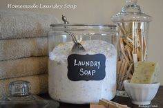 Jar for Laundry Soap Learning to Love my {Small} Laundry Room