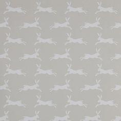 tienda online telas & papel | Papel pintado liebres gris