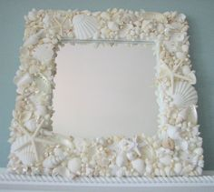 beach decor, beach, nautical decor, seashell mirrors, seashell frames, sea glass, shell wreaths, starfish, seashells