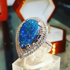 a30ff6dd53c 18kt White Gold Lightning Ridge Black Opal  Blackopal  elegantjewellery   opal jewellery  Australianblackopal