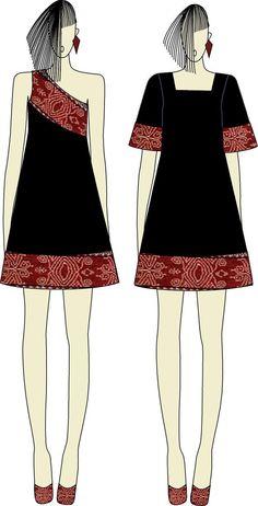 Off shoulders Dress from Savu Island by Ivonne