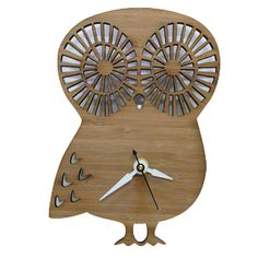 Owl clock made from bamboo.