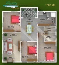 Fromthearmchair: Fresh 1200 Sq Ft House Design Pictures - House Plans, Home Plan Designs, Floor Plans and Blueprints Duplex House Plans, House Layout Plans, House Layouts, House Floor Plans, New Home Designs, Home Design Plans, Cool House Designs, Plan Design, Bungalow Haus Design