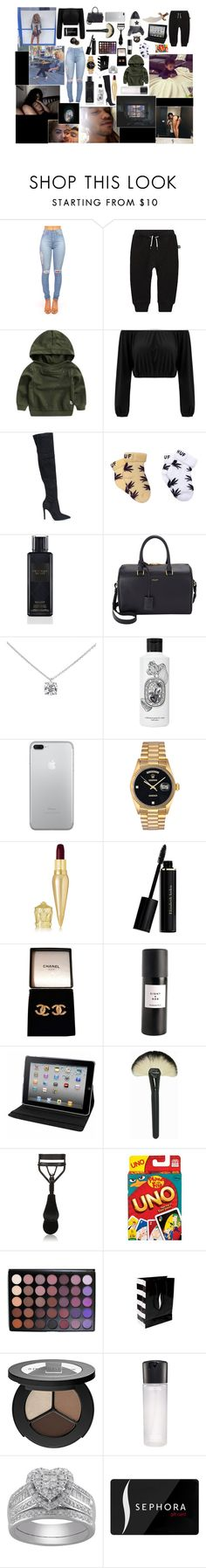 """""""•I can't sleep without you anymore at night time ,Not in this lifetime"""" by vibes-xo ❤ liked on Polyvore featuring xO Design, Molo, Kendall + Kylie, Victoria's Secret, Yves Saint Laurent, Tiffany & Co., Diptyque, Rolex, Christian Louboutin and Elizabeth Arden"""