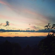 Sunset on the Blue Ridge Parkway. by leewolfepottery
