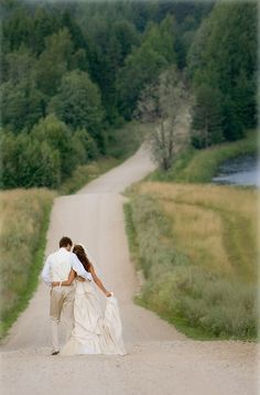 Wedding Photo Ideas - walking together. I am so going to have this for my village wedding