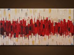Oringinal abstract painting red  Contemporary by artbyoak1 on Etsy, $79.00