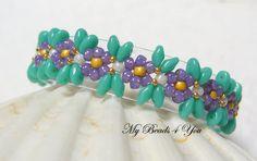 Beaded BraceletSuperDuo Beaded BraceletTurquoise by mybeads4you, $40.00 Etsy