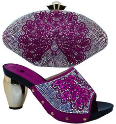 62.04$  Watch now - http://alialh.worldwells.pw/go.php?t=32760378072 - italian shoes and bags to matching pumps shoes wedding party heels blue african women shoes and bag set with rhinestone !WTT1-30 62.04$