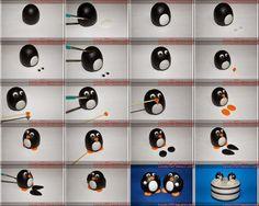 EAT MORE CAKE: Criações com Pasta de Açúcar - Pinguim