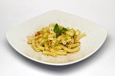 Ricetta dei Sedanini Riso di Pasta con zucca, porri, capesante e nocciole