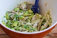 Kalyn's Kitchen®: Recipe for Chicken and Avocado Salad with Lime and Cilantro Made this 1/21/14 It was pretty good!  I think I'll make it again!