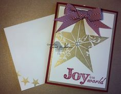 STAMPIN' UP! CHICKSTAMPER--JOY TO THE WORLD & CHRISTMAS STAR!! Click on picture for supplies & dimensions :)