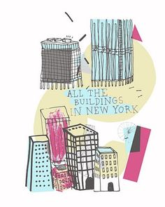 All the buildings in New York, Illustrated - by James Gulliver Hancock