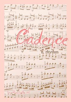 Musical Baby Girl Name: Cadence. Meaning: Rhythm. Origin: Latin. http://www.pinterest.com/vintagedaydream/baby-names/