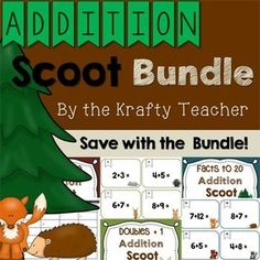 Master Addition facts is fun with this Scoot Bundle!!! Perfect for 1st grade!