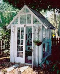Antique window garden shed