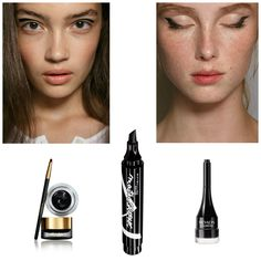 Occhi grafici black make up ss2015