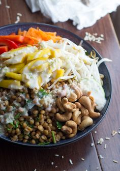Tropical Lentil Bowls with Mango and a Coconut-Lime Dressing