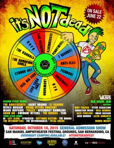 It's Not Dead Festival -  Punk and Ska Music's Biggest Bands On Three Stages Including Bad Religion, Pennywise, Descendents, NOFX And Many More
