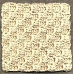 Diagonal Block Stitch Square Pattern--learned this stitch from another source, even made an afghan, but these directions are MUCH clearer!