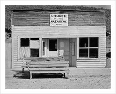 The Church of the Nazarene, Tennessee. (Walker Evans, 1936)