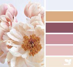 Peony Palette 7.9.20 Colour Pallette, Colour Schemes, Color Combinations, Design Seeds, World Of Color, Color Swatches, Color Theory, Color Inspiration, Web Design