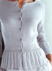 Pattern free with yarn purchase.   Shaped Cardigan