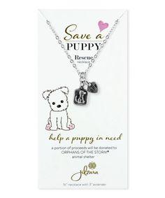 Love this Silvertone Dog BFF Animal Rescue Charm Necklace on #zulily by Jilzara, $9 !!  #zulilyfinds