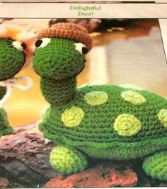 Crochet  Pattern Turtle Stuffed Animal Annies by sewprettypatterns, $2.75