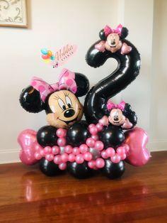 Minnie Mouse Balloons, Disney Balloons, Up Balloons, Balloon Table Centerpieces, Birthday Balloon Decorations, Masquerade Centerpieces, Wedding Centerpieces, Happy Birthday Bouquet, Happy Birthday Balloons