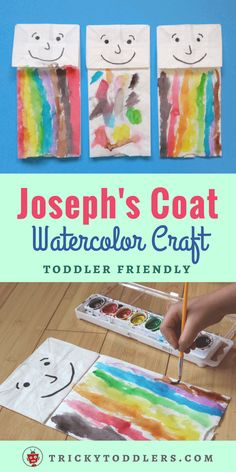 Joseph's Coat Watercolor Paper Bag Craft