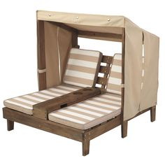 Double Chaise Lounger With Canopy Cup Holder. When the weather gets hot, children will be protected. lemonade will fit in the custom cup holders. ThisKids Outdoor Double Chaise Lounger With Canopy. Pool Chairs, Outdoor Chairs, Outdoor Furniture, Arm Chairs, Pallet Furniture, Furniture Plans, Rustic Furniture, Outdoor Decor, Chaise Longue Design