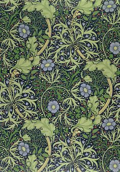 Seaweed Wallpaper Design, printed by John Henry Dearle (1860-1932), 1901 (wallpaper), Morris, William (1834-96) / Private Collection / The S...